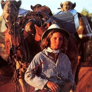 Robyn Davidson - Photograph by Rick Smolan. (From Alice To Ocean)