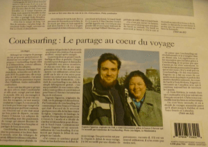 France D'Amour wrote an article about her experiences as a Couchsurfing host.