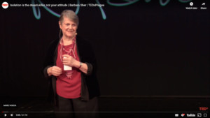 Wishcraft author, Barbara Sher, at TEDxPrague in 2015. Isolation is the dream-killer, not your attitude.